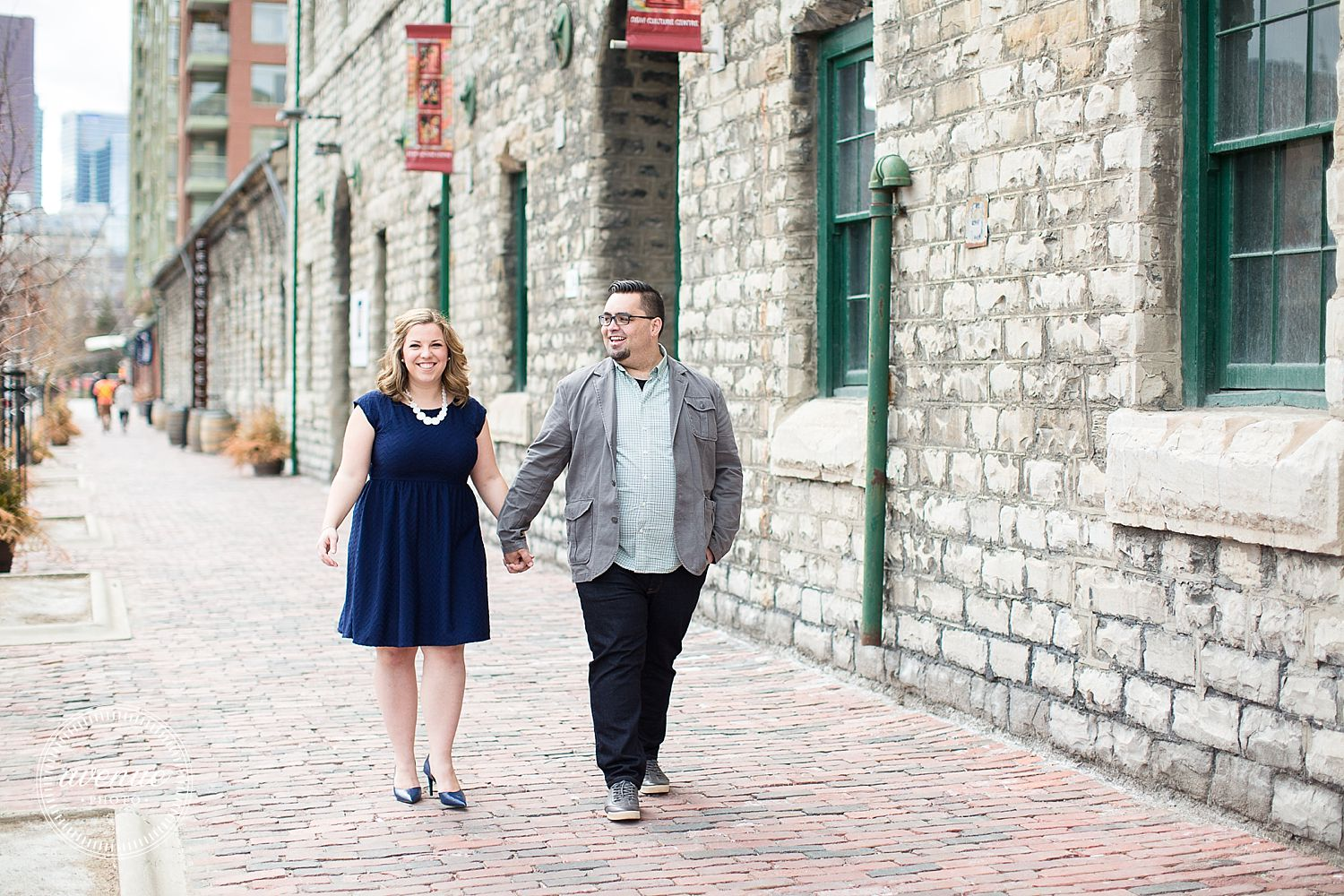 Distillery District Engagement Photos Toronto