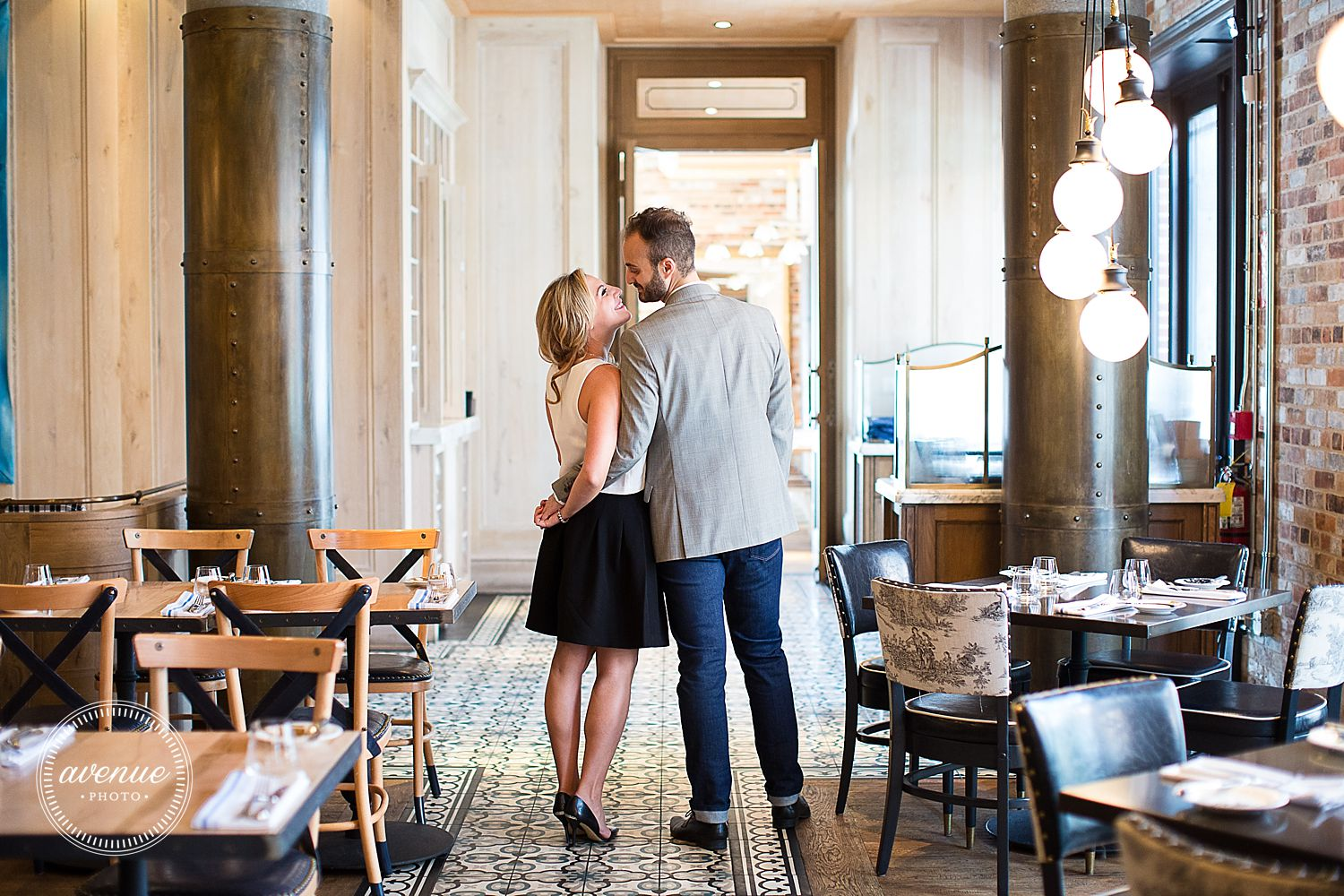 Cluny Bistro Engagement Photos