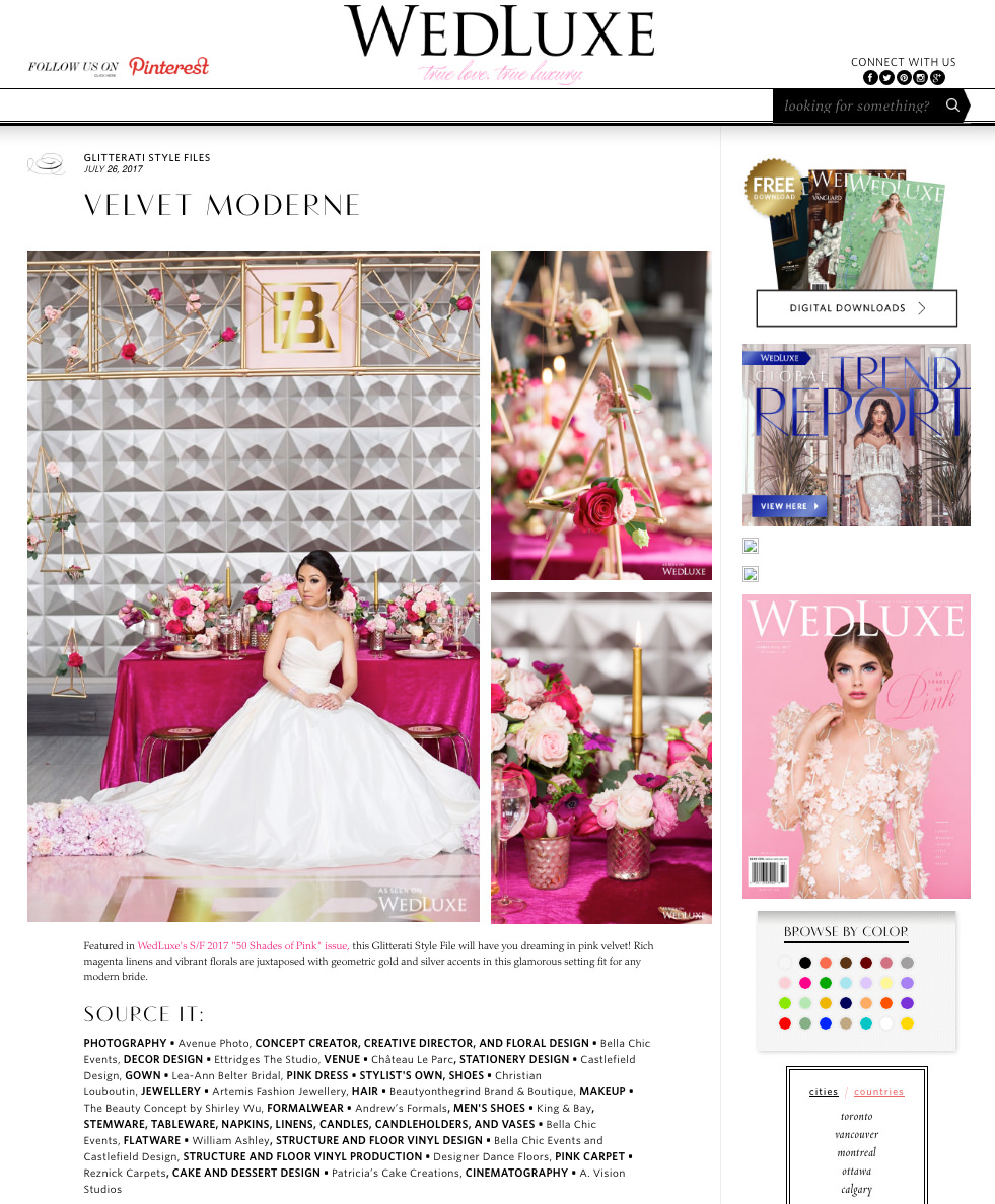 Styled Feature WedLuxe Avenue Photo