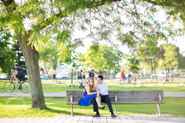 Humber Bay Bridge Engagement Photos Toronto Waterfront