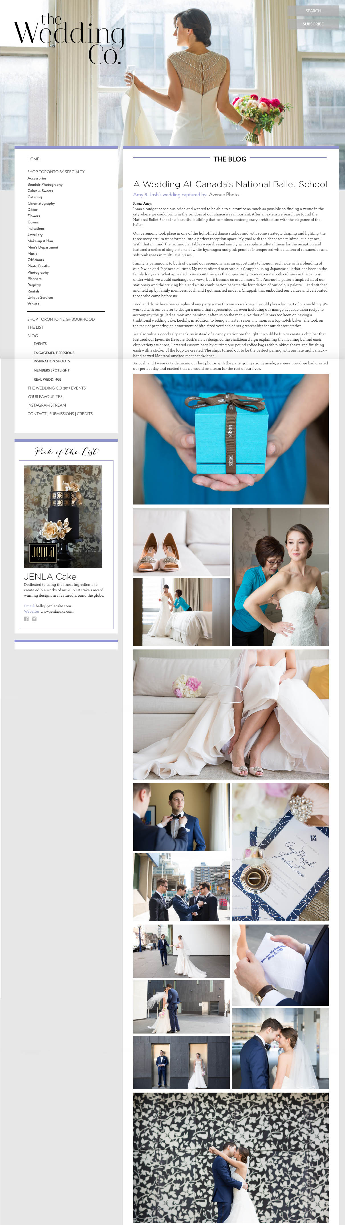 Canada's National Ballet School Wedding featured on The Wedding Co.