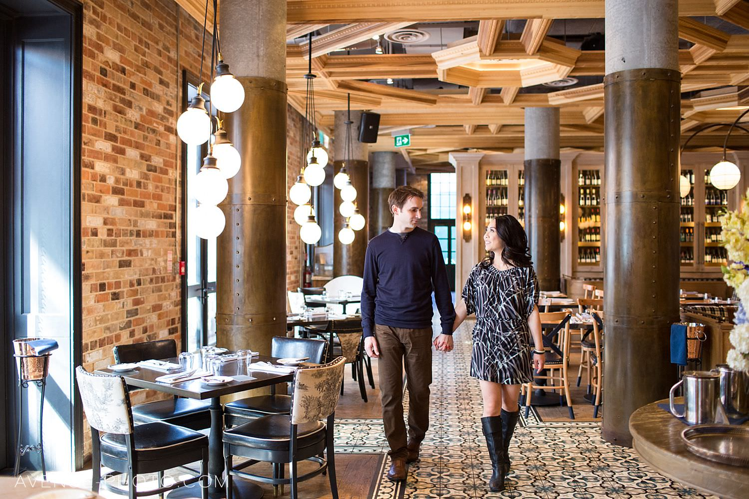 Cluny Bistro Distillery District Engagement Photos
