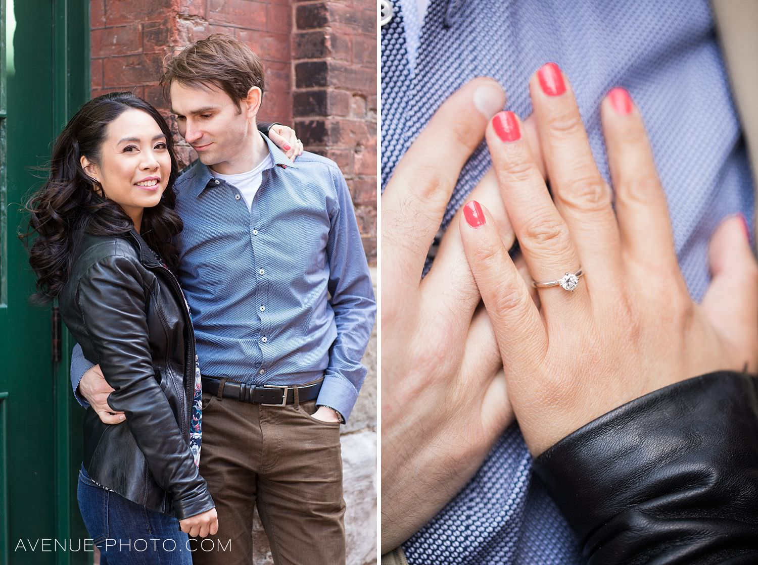 Distillery District Toronto Engagement Photos