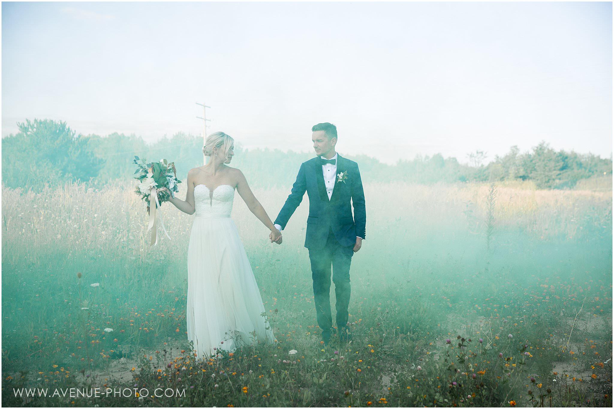 Adamo Estate Winery Wedding Photos, Hockley Valley Wedding Photos, Orangeville Wedding Photos, Vineyard Wedding, Avenue Photo, Smoke Bomb