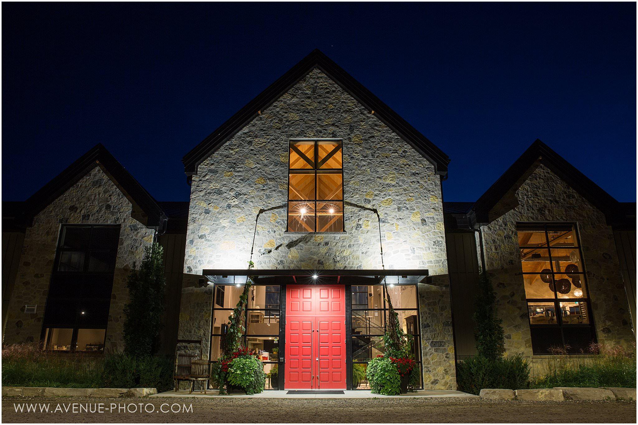Adamo Estate Winery Wedding Photos, Hockley Valley Wedding Photos, Orangeville Wedding Photos, Vineyard Wedding, Avenue Photo, Exterior at Night