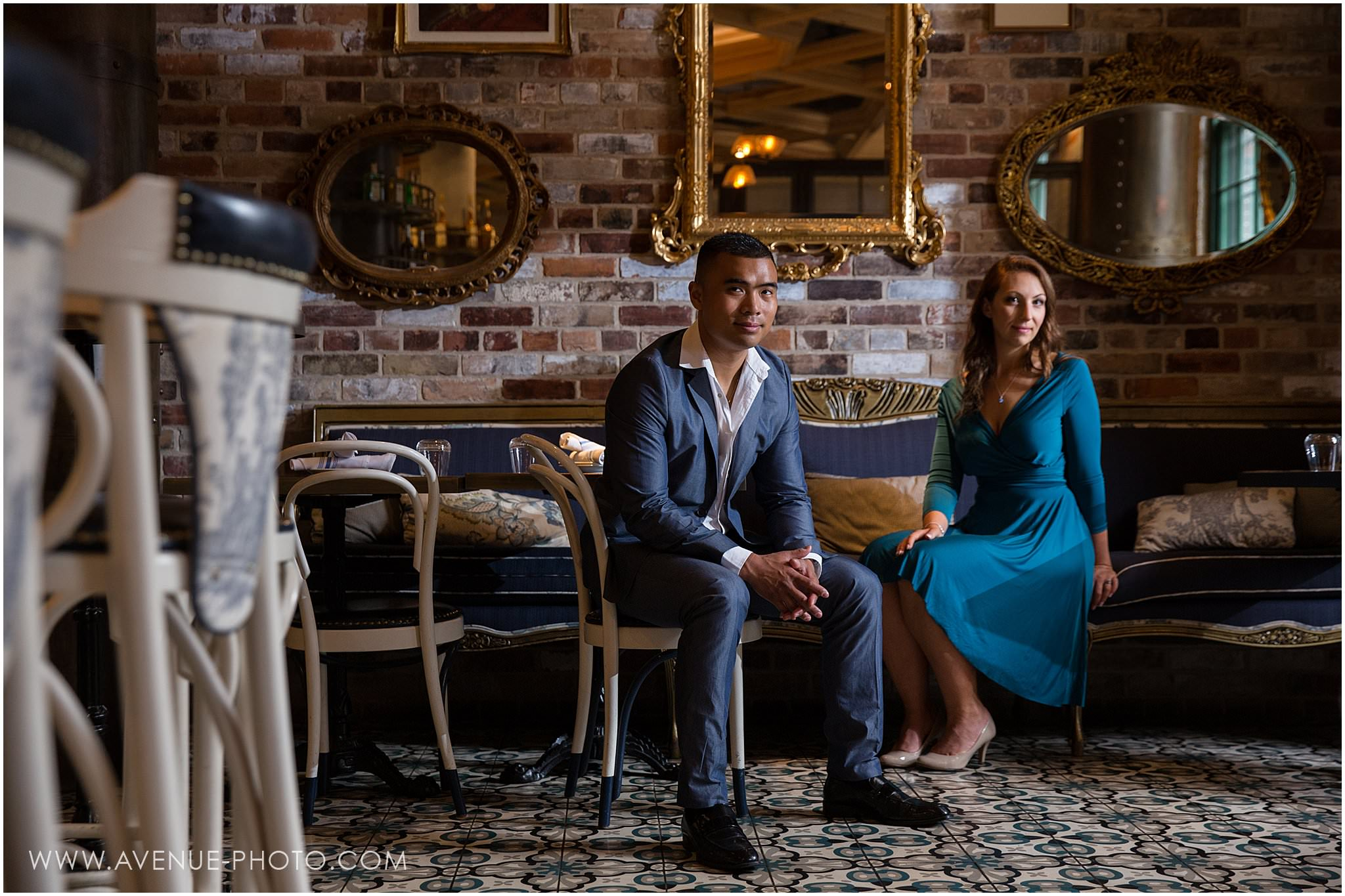 Distillery District Engagement Photos - Cluny Bistro Engagement - Toronto Wedding Photographer