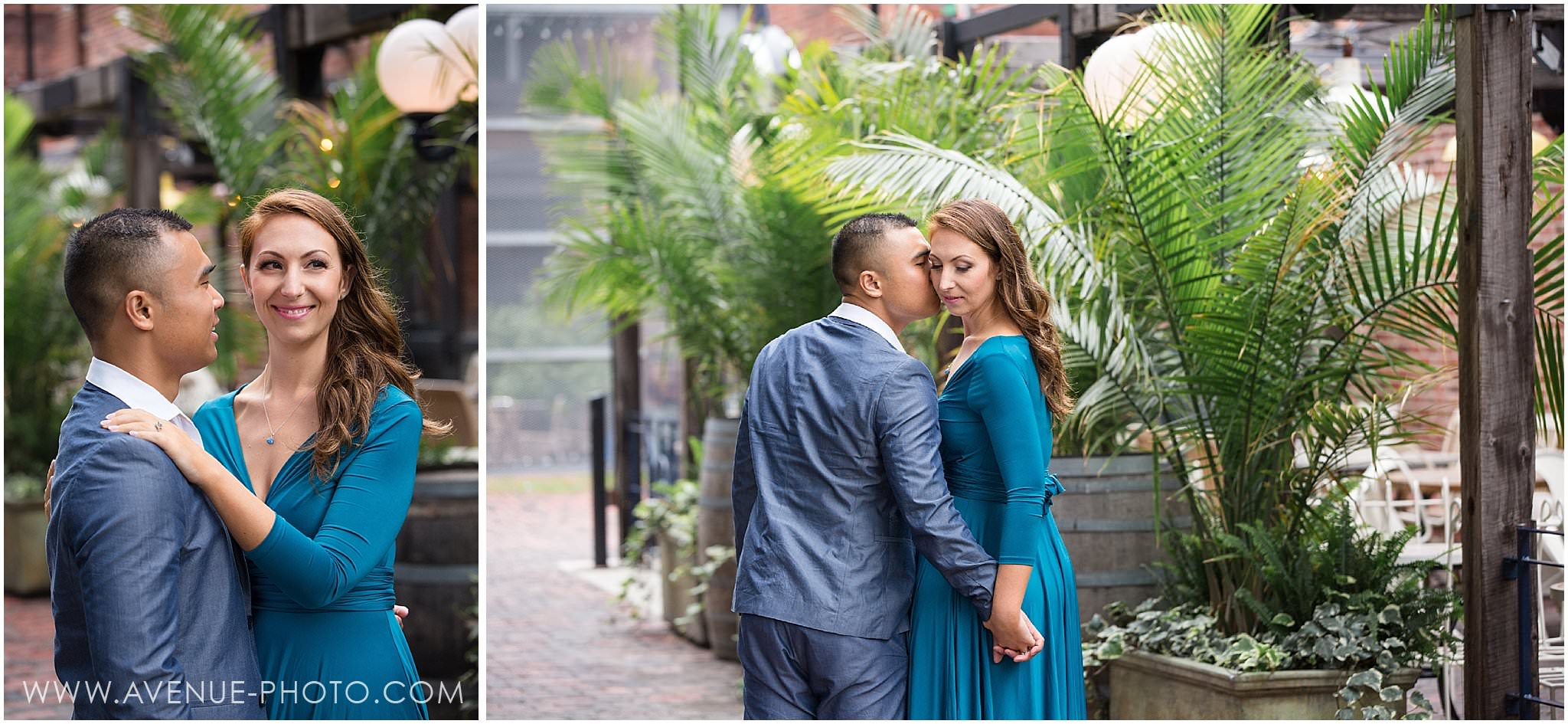 Distillery District Engagement Photos - Cluny Bistro Engagement - Toronto Wedding Photographer