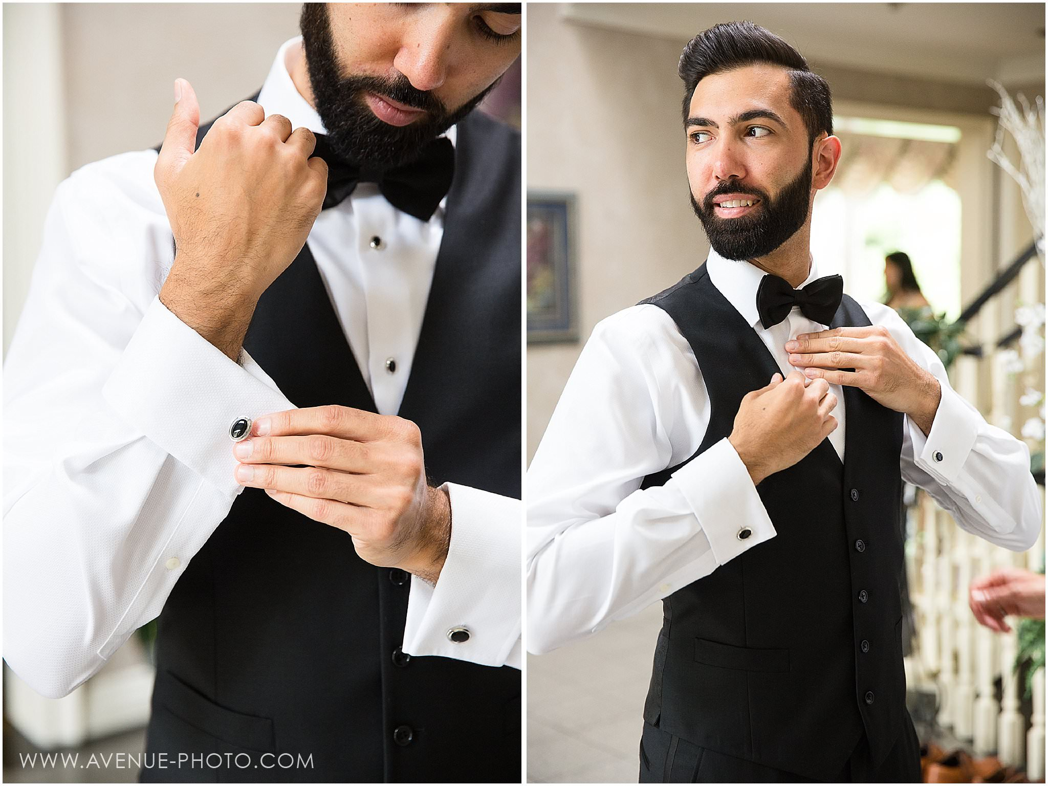 Perfectly Groomed Groom, Hazelton Manor Wedding photos, Avenue photo