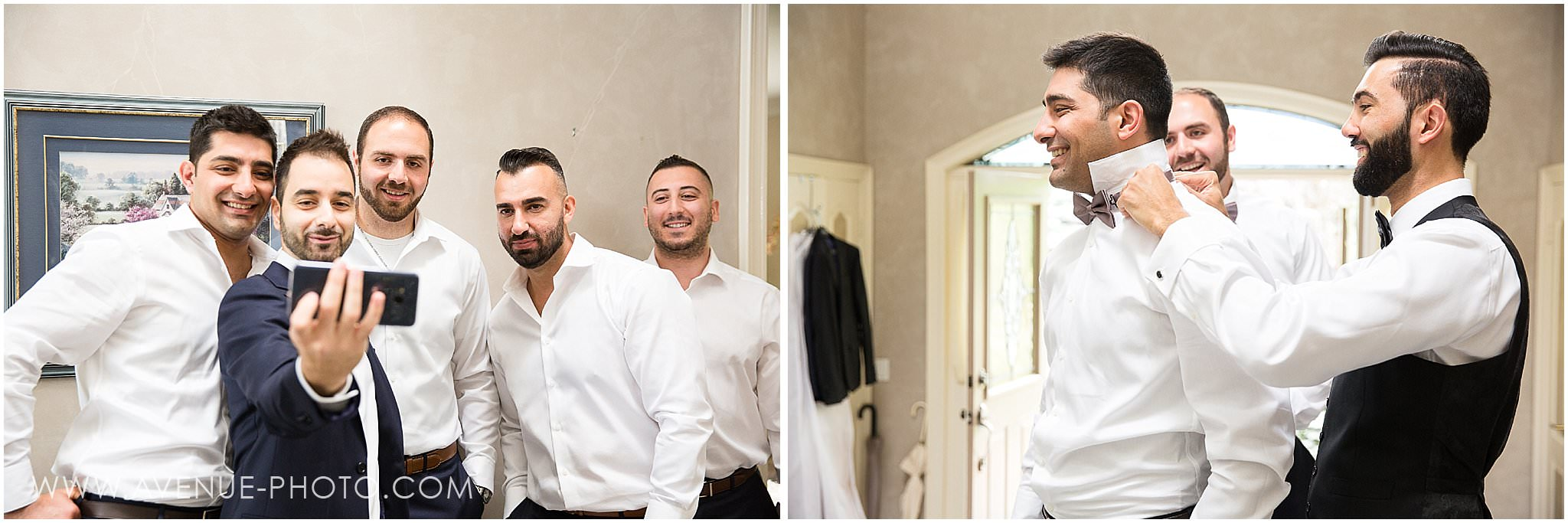 Hazelton Manor Wedding photos, Avenue photo, Groom and Groomsman getting ready