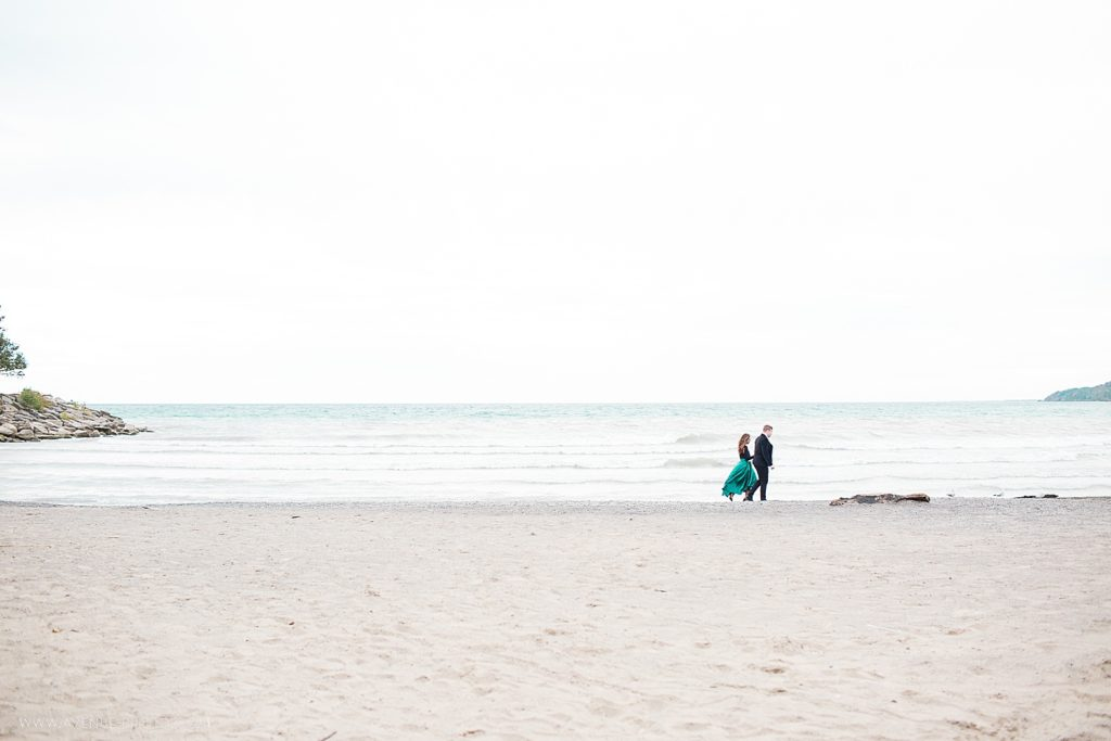 Scarborough Bluffs Engagement on the beach