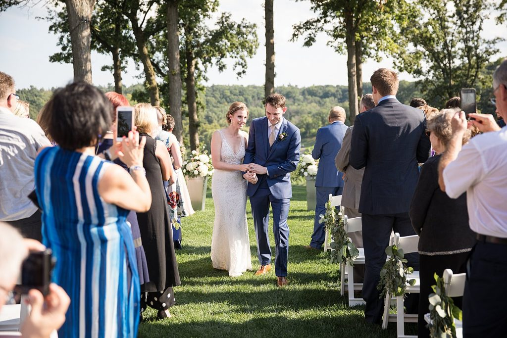 Just Married Boho Credit Valley Golf Course Wedding